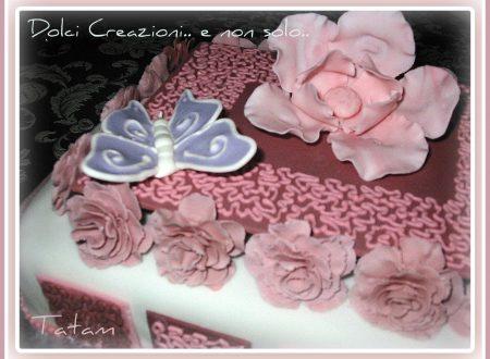 Torta Decorata Micaela  pasta di zucchero