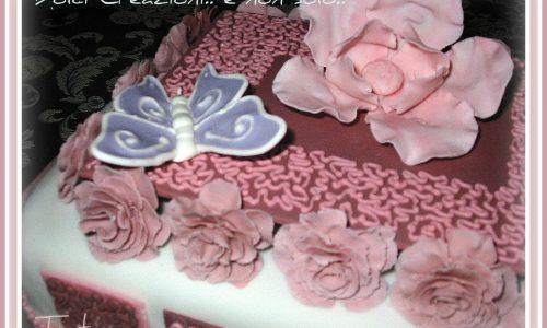 Torta Decorata Micaela |pasta di zucchero