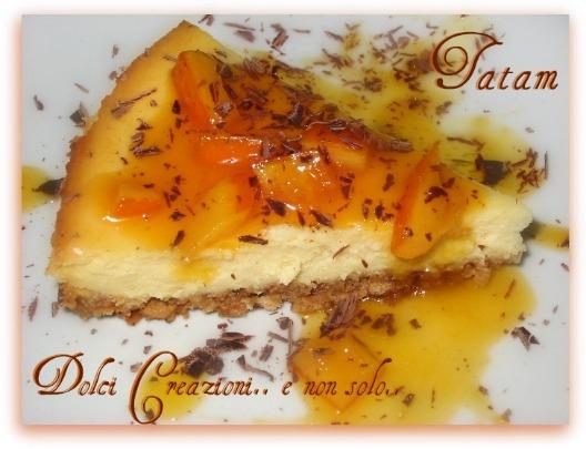 Cheese Cake al limone con Salsa di Arance e Cioccolato