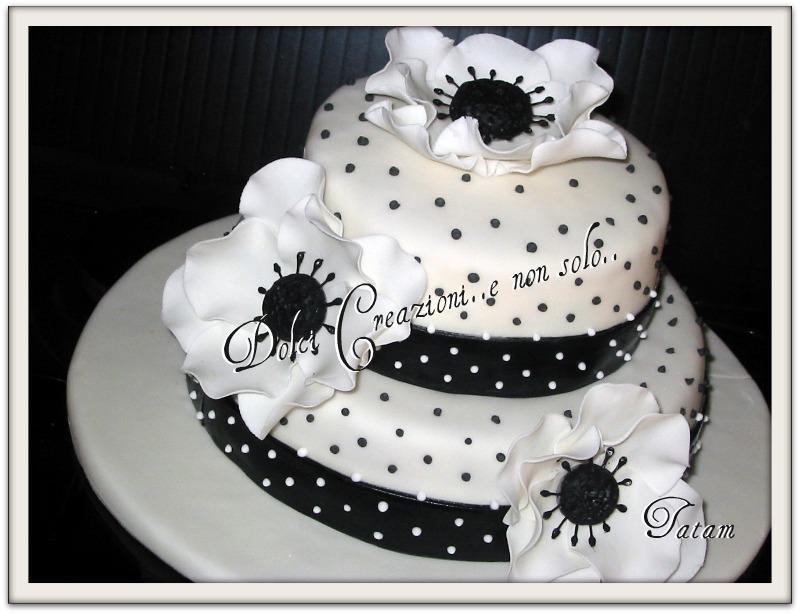 Anemone cake (two tiered cake) | torta decorata