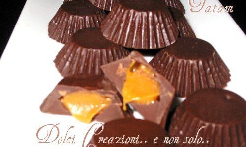 Cioccolatini ripieni al Caramello salato, con cuore cremoso