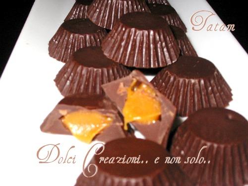 Cioccolatini ripieni al Caramello salato