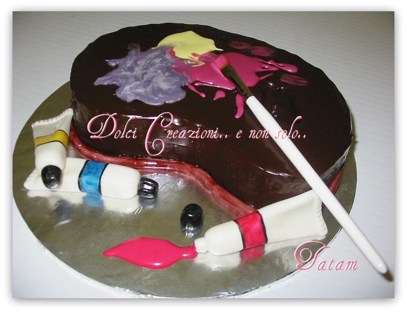 Torta Decorata Tavolozza dei colori