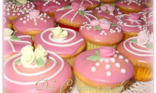 Cupcakes al limone decorati con roselline | ricetta base