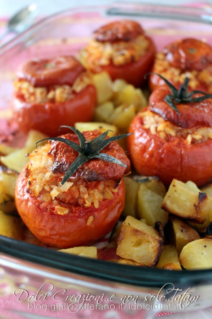 Pomodori ripieni di riso con patate