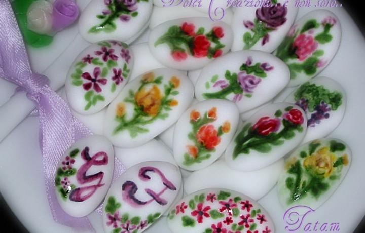Confetti decorati dipinti a mano