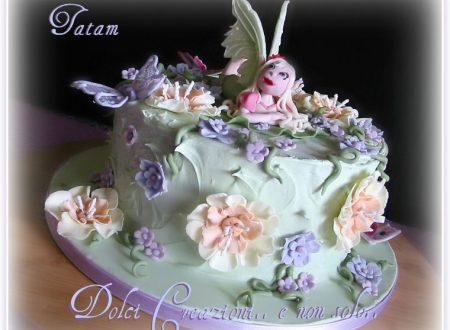 Torta Fatina dei Fiori   Fairy Flowers Cake