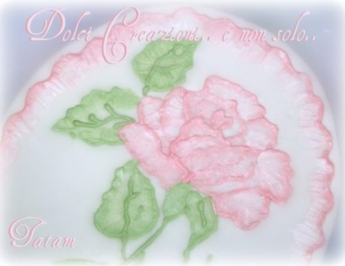 Rosa rosa in Brush Embroidery