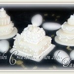 mini wedding cake white