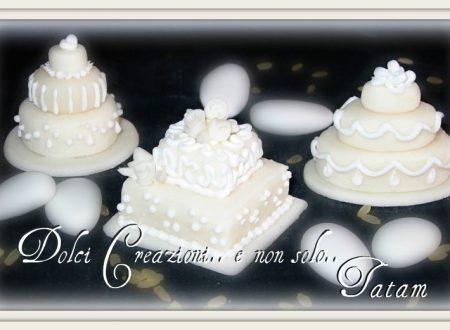 Miniature Wedding Cake Pure White