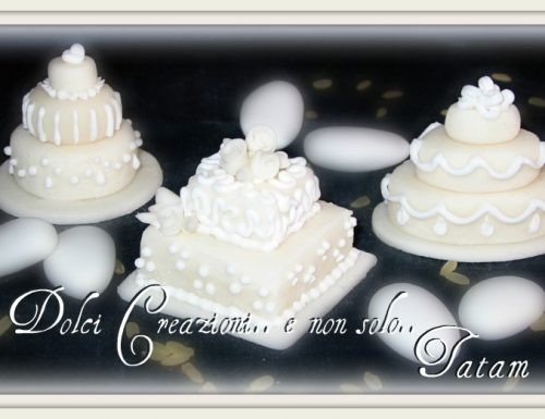 Miniature Wedding Cake Pure White