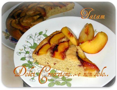 Torta di Pesche senza uova e burro, ricetta per intolleranza