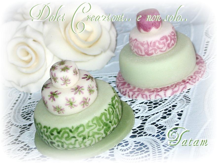 Miniature Cake nei toni del verde