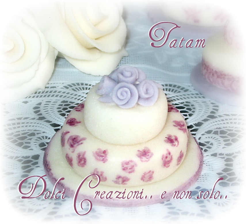 Lilac miniature wedding cake