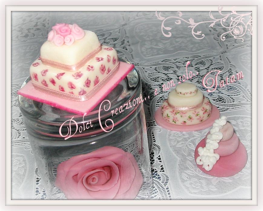 mini wedding cake pink 2