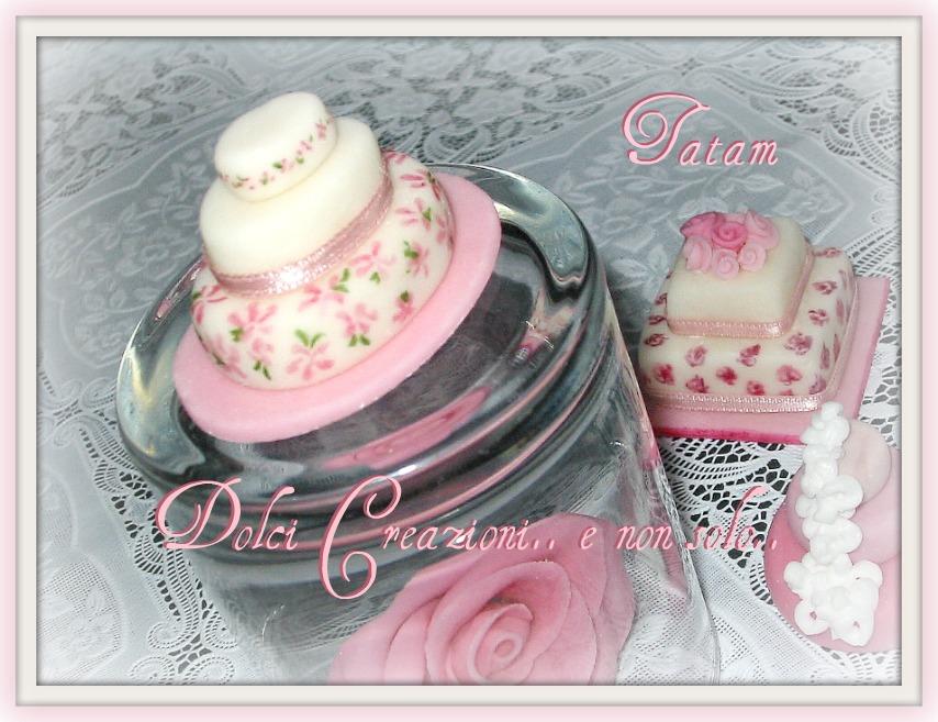 mini wedding cake pink 3