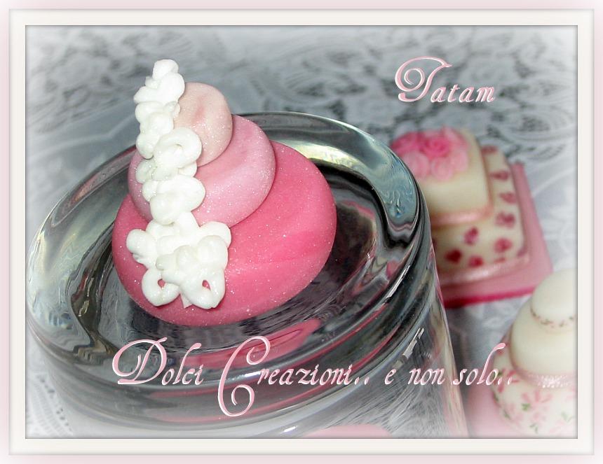 mini wedding cake pink 5