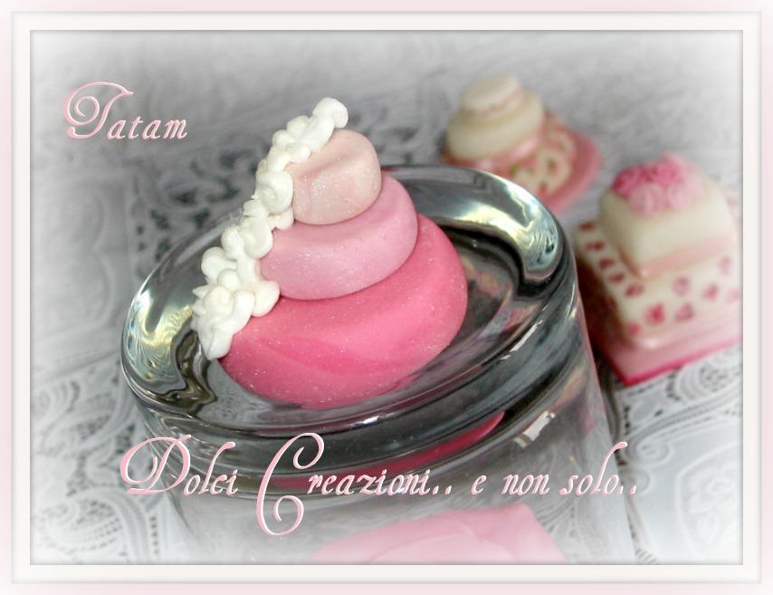 mini wedding cake pink 6