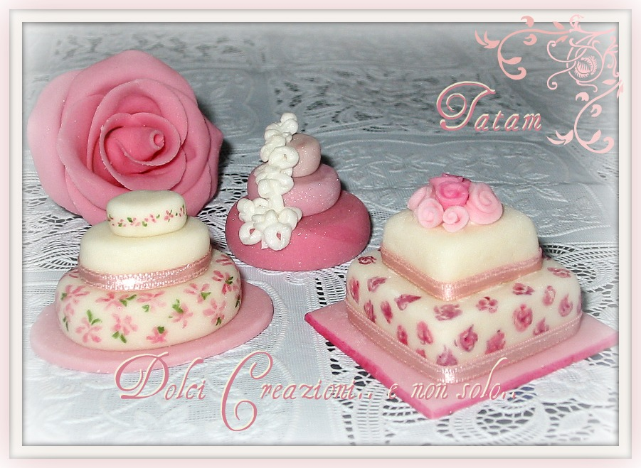 mini wedding cake pink