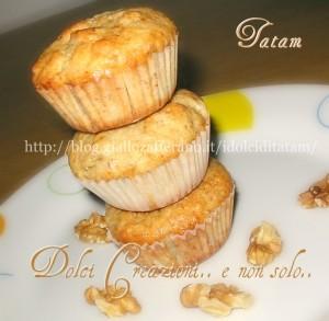 Muffins alle banane e noci
