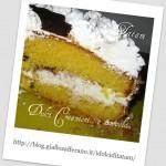 torta biancaneve fetta