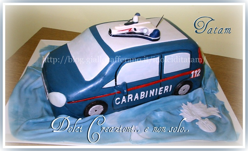 Torta Auto dei Carabinieri