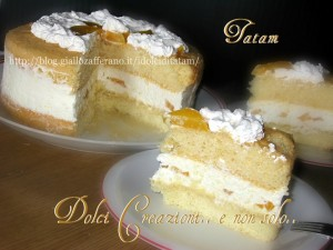 torta crema di formaggio e pesche 1