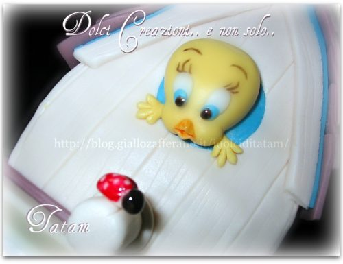 Tweety Cake, torta decorata in pasta di zucchero