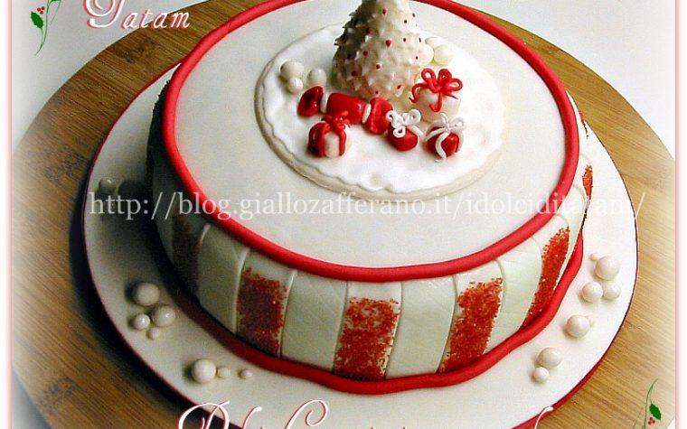 Christmas Cake in bianco e rosso