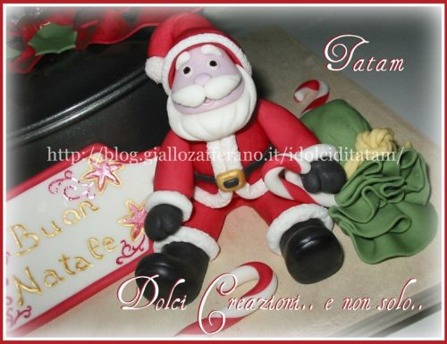 Babbo Natale in pasta di zucchero