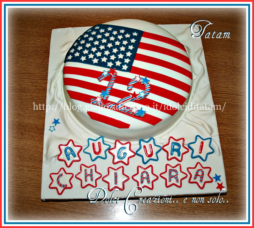 American Flag Cake | torta decorata