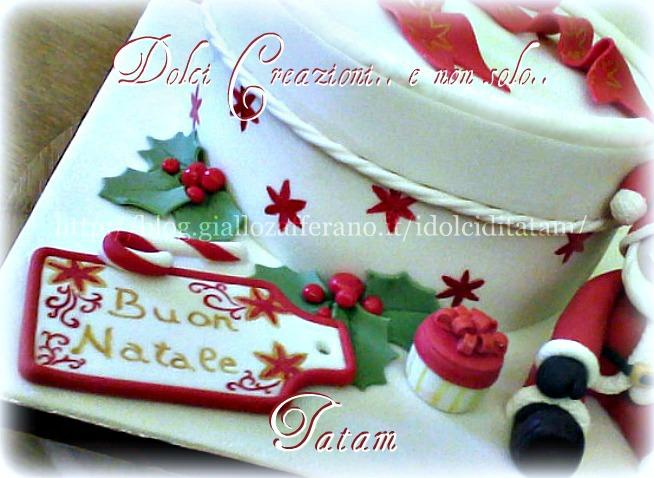 Christmas cake gift torta decorata dolci creazioni tatam - Torte natalizie decorate ...