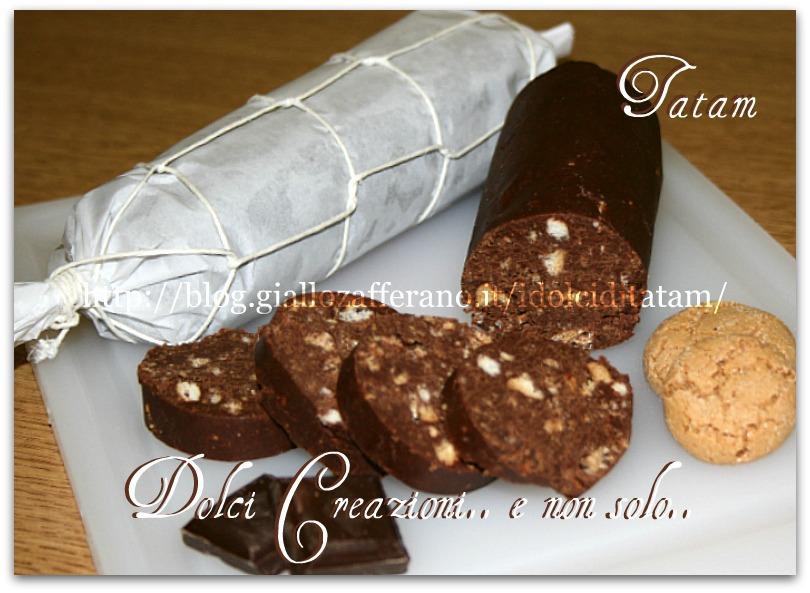 Il salame al cioccolato   ricetta senza uova