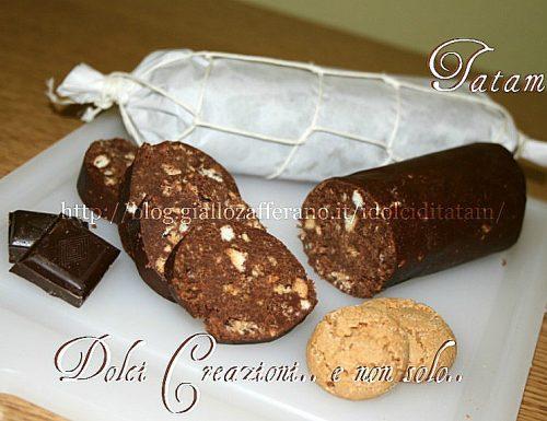 Il salame al cioccolato, ricetta senza uova