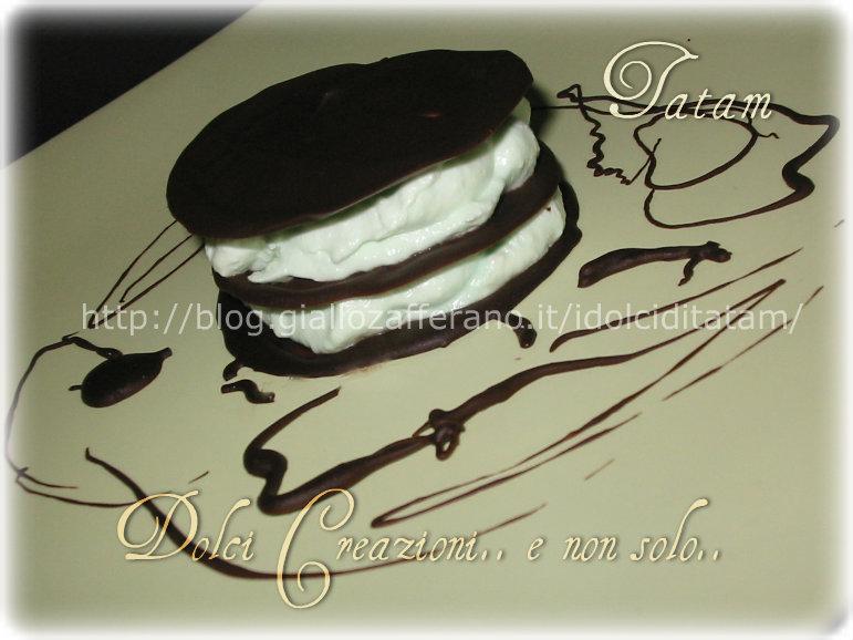 Millefoglie di cioccolato alla menta