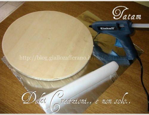 Come ricoprire un vassoio per torte |tutorial