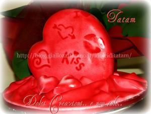 torta decorata san valentino pasta di zucchero