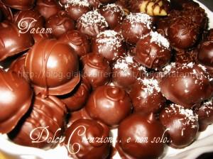 Cioccolatini, Tartufi, Dolcetti al cioccolato  ----> clicca qui per le ricette