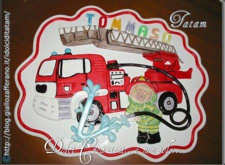 Placca Orsetto Pompiere
