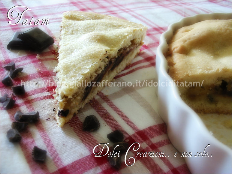 Torta crostata alla crema e cioccolato