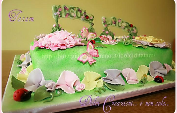Torta di primavera in fiore | torta decorata