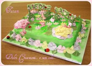 garden giardino torta