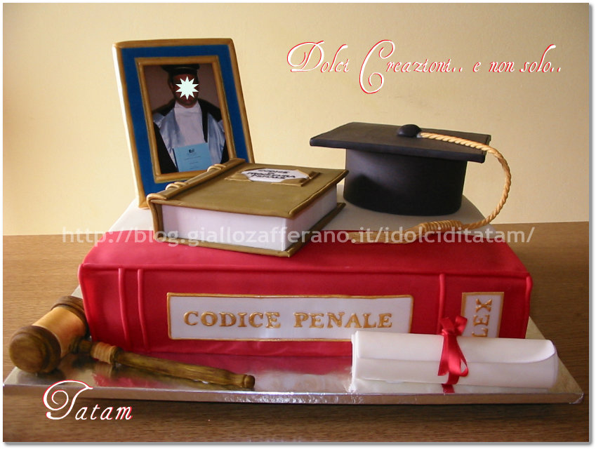 torta  decorata graduations cake