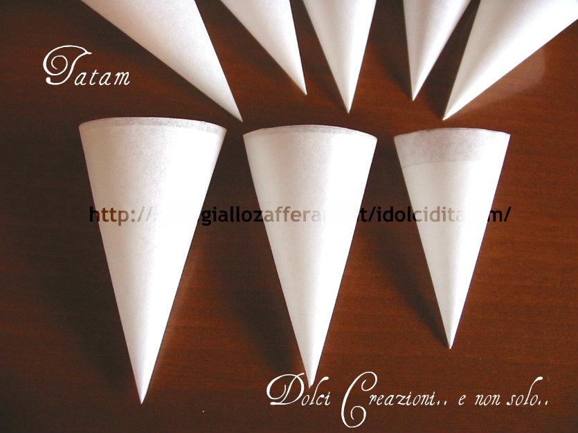 conetti di carta da forno