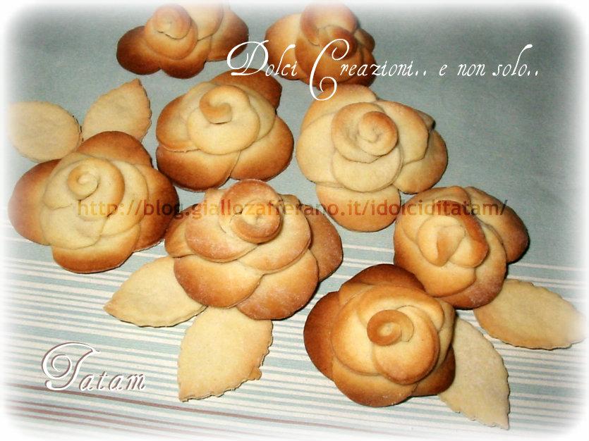 Rose di pasta frolla | ricetta biscotti creativi