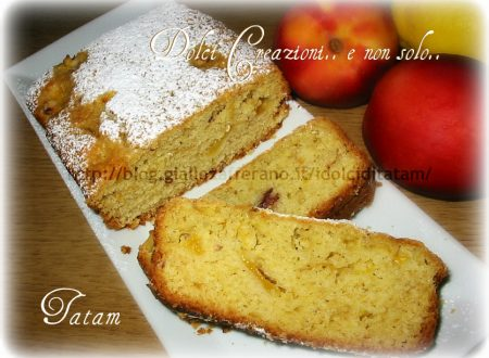 Plum cake alle pesche, ricetta senza uova