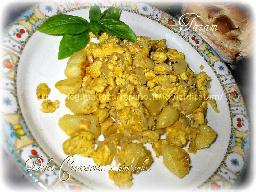 uova strapazzate patate cipolla