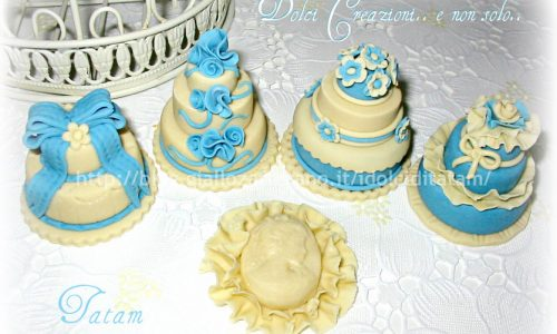 Blue Miniature Cake
