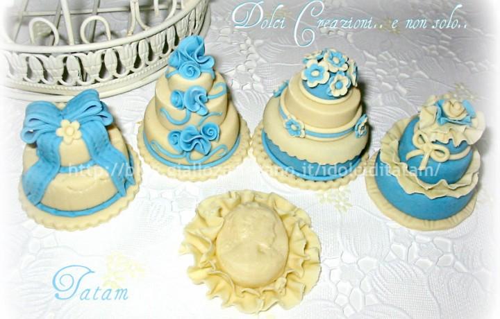 Blue Miniature Cake