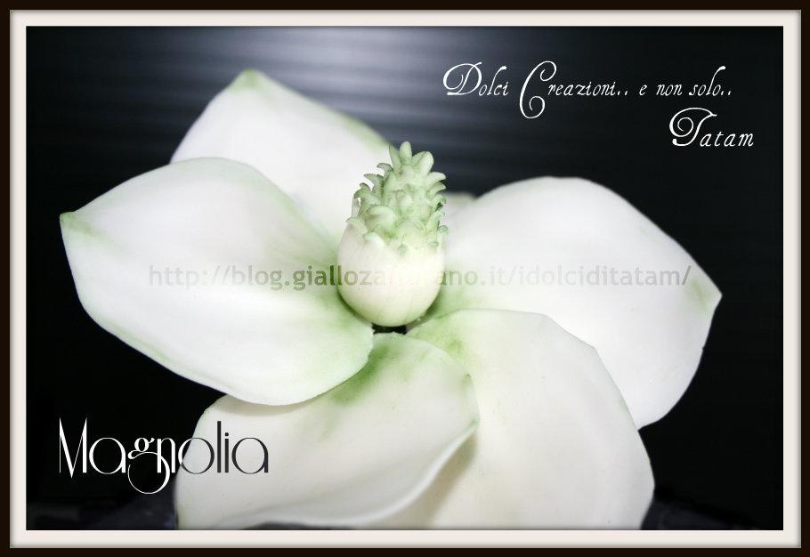 Magnolia in pasta di zucchero